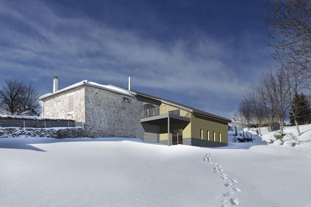 Fanget Fiard Architectes - Réhabilitation d'un corps de ferme - Saint Jeures - Haute Loire