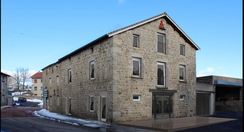 Fanget Fiard Architectes - Réhabilitation immeuble en commerce et logements - Saint Jeures - Haute Loire