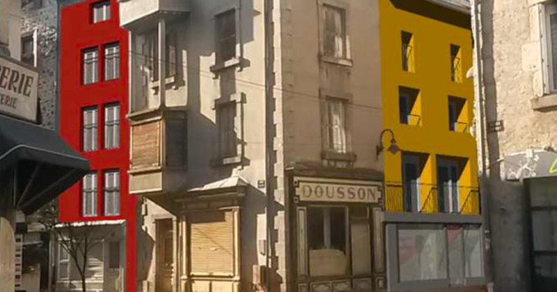 Fanget Fiard Architectes - Réhabilitation d'un immeuble - Yssingeaux - Haute Loire